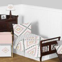 Sweet Jojo Designs Aztec 5-Piece Toddler Bedding Set in Pink/Gold