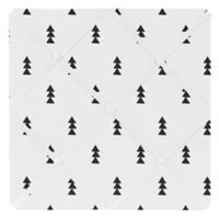 Sweet Jojo Designs Bear Mountain Triangle Tree Print Memo Board in Black/White