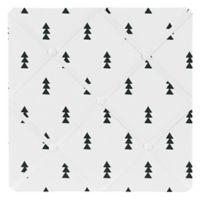 Sweet Jojo Designs Bear Mountain Triangle Tree Print Memo Board in Black/White