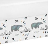 Sweet Jojo Designs Bear Mountain Crib Skirt in Blue/Black