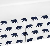 Sweet Jojo Designs Big Bear Crib Skirt in Navy