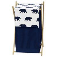 Sweet Jojo Designs Big Bear Laundry Hamper in Navy