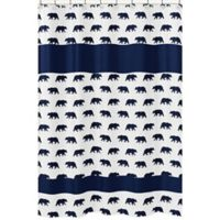 Sweet Jojo Designs Big Bear Shower Curtain in Navy