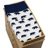 Sweet Jojo Designs Big Bear Changing Pad Cover in Navy