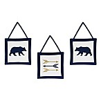 Sweet Jojo Designs Big Bear 3-Piece Wall Hanging Set in Blue/Gold