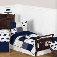 Sweet Jojo Designs Big Bear 5-Piece Toddler Bedding Set in Blue/Gold