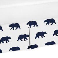 Sweet Jojo Designs Big Bear Toddler Bed Skirt in Navy