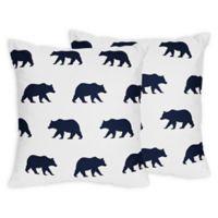 Sweet Jojo Designs Big Bear Throw Pillows in Navy (Set of 2)