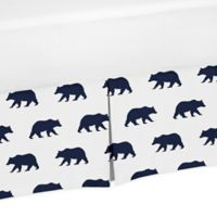 Sweet Jojo Designs Big Bear Twin Bed Skirt in Navy