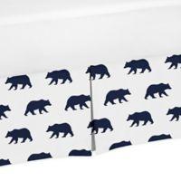 Sweet Jojo Designs Big Bear Queen Bed Skirt in Navy