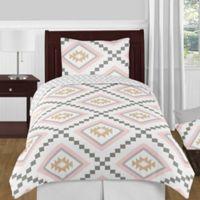 Sweet Jojo Designs Aztec 4-Piece Twin Comforter Set in Pink/Gold