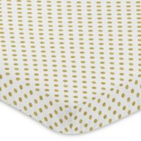 Sweet Jojo Designs Amelia Polka Dot Fitted Mini-Crib Sheet