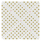 Sweet Jojo Designs Amelia Polka Dot Memo Board in Pink/Gold