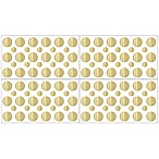 Sweet Jojo Designs Amelia Gold Polka Dot Wall Decal Stickers in Metallic Gold