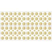 Sweet Jojo Designs Amelia Gold Polka Dot Wall Decal Stickers in Metallic Gold