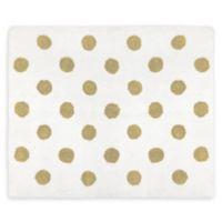 Sweet Jojo Designs Amelia Polka Dot Rug in Gold/White