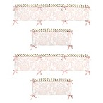 Sweet Jojo Designs Amelia 4-Piece Crib Bumper Set in Pink/Gold