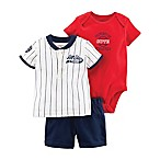 carter's® Newborn 3-Piece All Star Little Short Set in Red