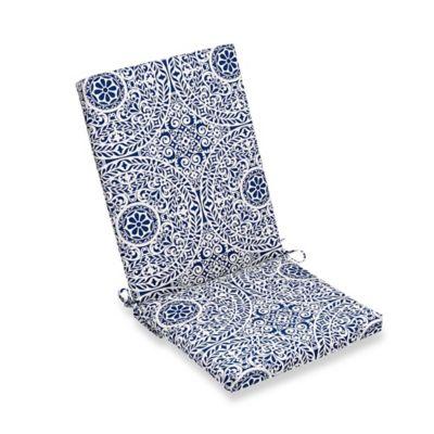 Tachenda Folding Wicker Chair Cushion In Indigo