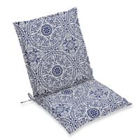 Print Indoor/Outdoor Sling Chair Cushion in Indigo Tachenda