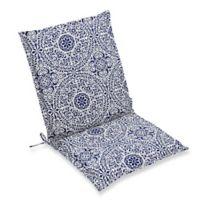 Print Indoor/Outdoor Sling Chair Cushion in Indigo Tachenda