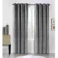 Victorian 84-Inch Grommet Top Window Curtain Panel in Grey