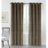 Victorian 84-Inch Grommet Top Window Curtain Panel in Taupe
