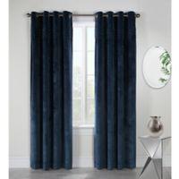 Victorian 84-Inch Grommet Top Window Curtain Panel in Blue