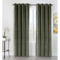Victorian 84-Inch Grommet Top Window Curtain Panel in Sage