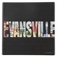 Thirstystone® Evansville Indiana Letters Round Single Coaster
