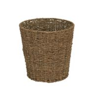 Household Essentials® Round Seagrass Wicker Wastebasket