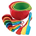 Fiesta® 15-Piece Multicolor Prep & Serve Set