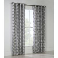Window Frame 95-Inch Grommet Top Window Curtain Panel in Grey