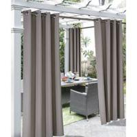 Coastal 96-Inch Indoor/Outdoor Grommet Top Window Curtain Panel in Taupe