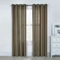 Princess 84-Inch Grommet Top Window Curtain Panel in Taupe