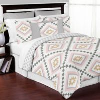 Sweet Jojo Designs Aztec 3-Piece Full/Queen Comforter Set in Pink/Gold