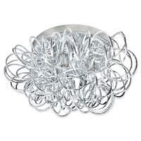 Dainolite 4-Light Tubular Flush-Mount Ceiling Fixture inin Polished Chrome