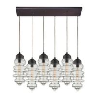 ELK Lighting Cipher 6-Light Pendant in Oil Rubbed Bronze with Closed Bracket