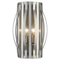 Filament Design Clay 2-Light Wall Sconce in Brushed Nickel