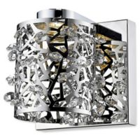 Filament Design Charlotte 1-Light Wall-Mount Wall Sconce in Chrome