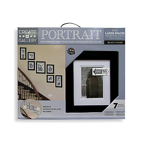 Create-a-Gallery Portrait 7-Piece Wood Frame Set in Black