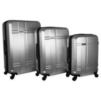 Isaac Mizrahi Conway 3-Piece Hardside Spinner Luggage Set in Silver
