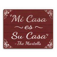 "Astra Art ""Casa - Red"" 11-Inch x 14-Inch Wood Wall Art"