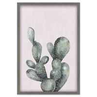 """Marmont Hill 18-Inch x 12-Inch """"Lone Cactus III"""" Canvas with Shadow Box"""