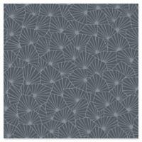 Swedish Patterns Blomma Geometric Wallpaper in Charcoal
