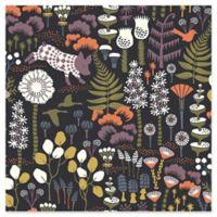 Swedish Patterns Hoppet Folk Wallpaper in Black