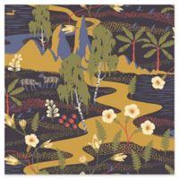 Swedish Patterns Magisk Oasis Wallpaper in Navy