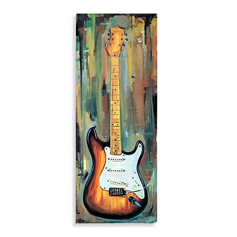Guitar Canvas Wall Art   Brown And Black Electric Guitar