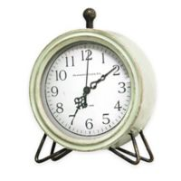 Stratton Home Décor Oliver Table Top Clock in Green