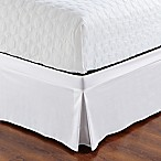 De Moocci Easy Wrap Tailored King Bed Skirt in White